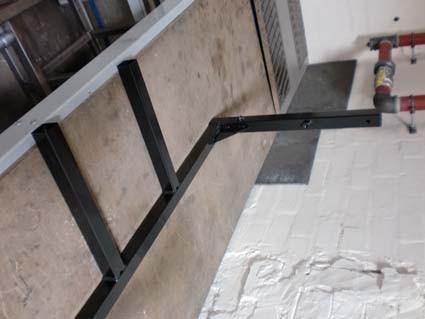 Fußrahmen, 600 breit x 508 hoch, für Schaltschrank