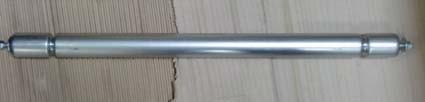 Transportrolle 40 mm - 450 mm Stahl verzinkt, 2 Sicken