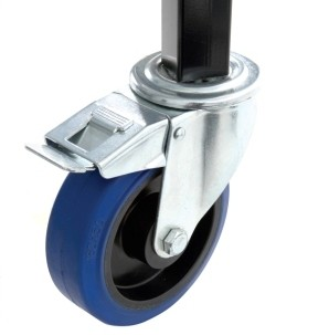 Lenkrolle 125 mm - 36 mm profilansatz mit Bremse