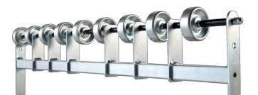 Röllchen-Unterstützungsrahmen, 450 mm breit, Stahl verzinkt